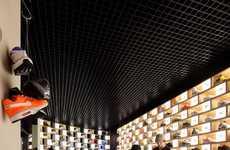 Grid-Like Shoe Exhibits