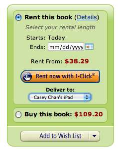 Kindle Textbook Rental