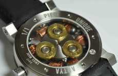 Bullet-Filled Wristwatches