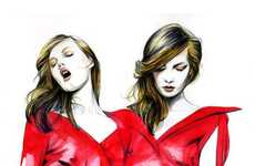 41 Hot High-Fashion Illustrations