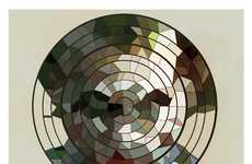 Circular Stained Glass Portraits