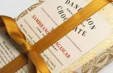 Ribbon-Wrapped Chocolate Branding