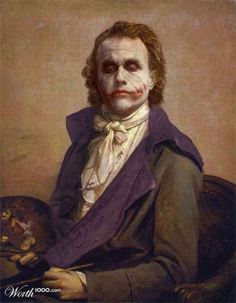 Superheroes in Iconic Paintings