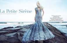 Platinum Blonde Mermaid Editorials