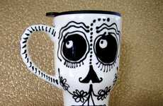 Eerie Skeleton Mugs