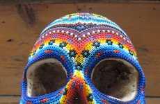 Intricate Technicolor Skulls