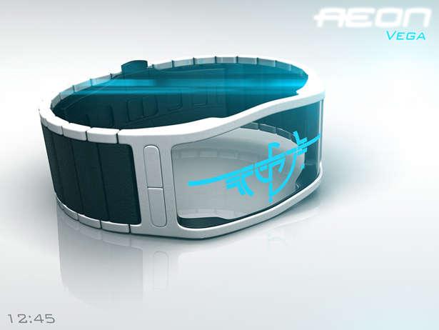 Transparent Digital Timepieces