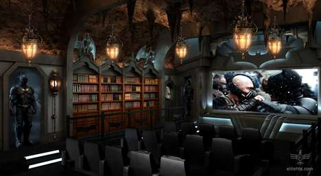 dark knight themed custom home theater