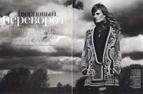 Constance Jablonski by Patrick Demarchelier for Vogue Russia