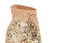 Sparkle-Splattered Footwear
