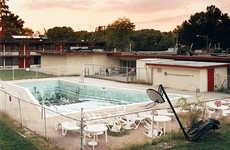 Abandoned Motel Pool Photography