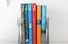 Minimalist Cutlery Book Stands