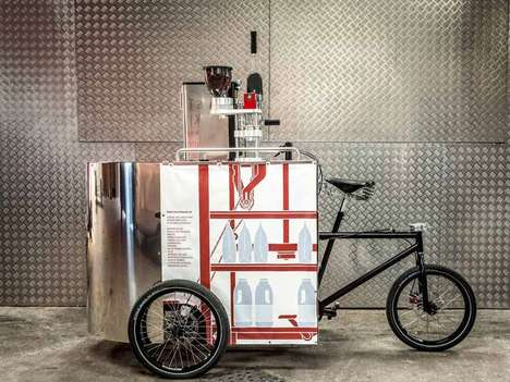 velopresso pedal powered coffee cart