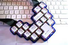 Upcycled Keyboard Jewelry