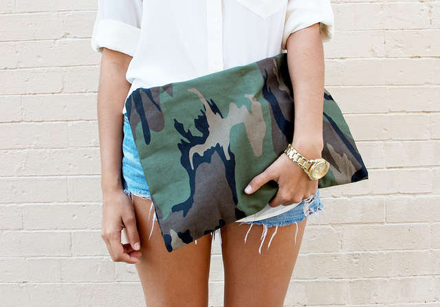 Chic Military-Patterned Purses