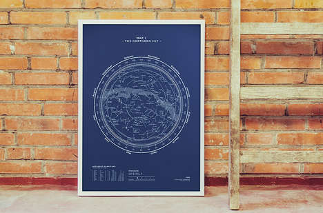 stellar, map, constellation, print