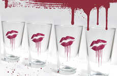Undead Smooched Pint Glasses