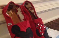 Minimalist Disney Mice Shoes