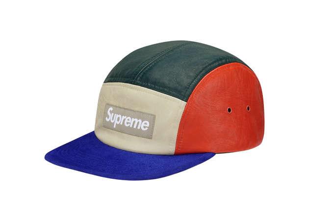 Color-Block Leather Caps