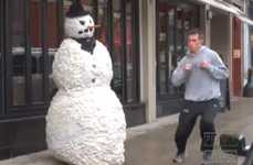 Scary Storefront Snowman Videos