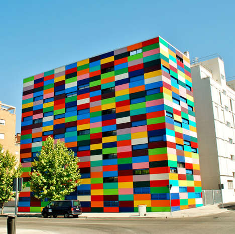 colorful contemporary buildings