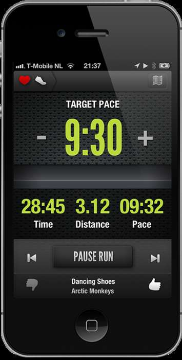 iPhone Running App 