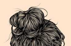 Intricate Hair Illustrations