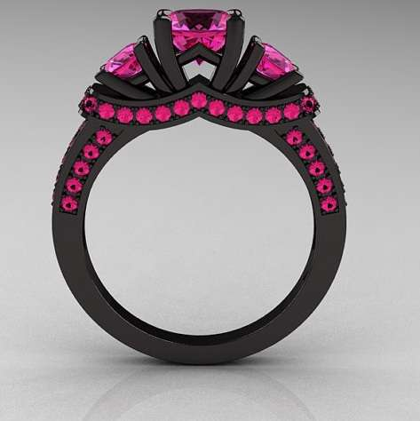 Ebony Engagement Rings