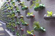 Plastic Bottle Vertical Gardens