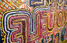 Graffiti-Styled Typography Murals