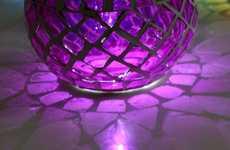 Sun-Powered Mosaic Lamps