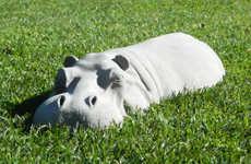 Hiding Hippo Lawn Ornaments
