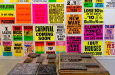 Graphic Day-Glo Posters