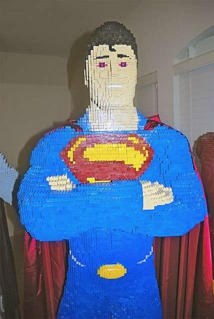 LEGO Superman model
