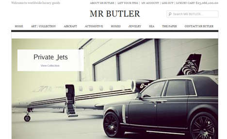 Mr Butler luxury website