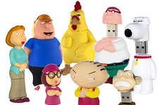 Cartoon Family Flash Drives