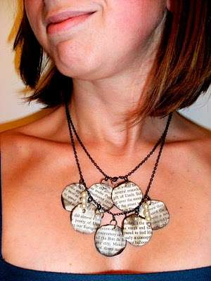 Book Page Pendants