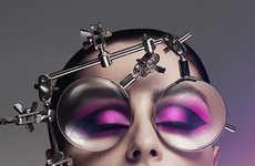 Magnified Eyeshadow Editorials