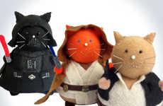Chubby Sci-Fi Feline Cushions