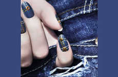 Chic Jean-Clad Nails