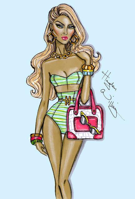Exaggerated Fashion Illustrations