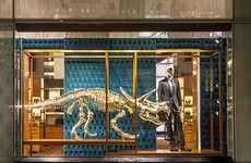 Gold Prehistoric Fashion Displays
