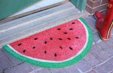 Upcycled Fruity Door Mats