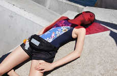 Color-Blocked Designer Wet Suits