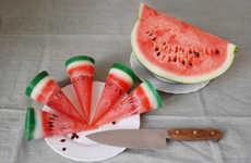 Illusory Watermelon-Shaped Candles