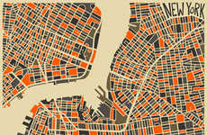 Vibrant Conceptual City Maps