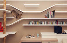 Multi-Purpose Cat Shelving