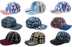Patterned Textile Snapbacks