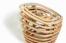 Wooden Vortex-Like Seating
