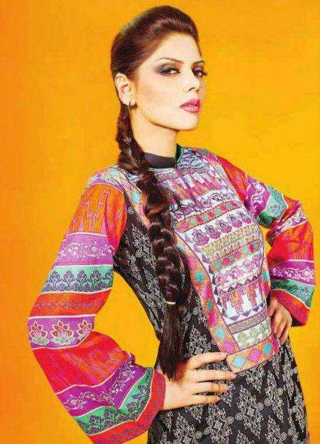 Hadiqa has come to the fabric scene with entirely new sort of stylish designs extracted from Punjabi, Greek, Turkish, Roman and Egyption culture. You will find fresh and fantastic prints with embroidery, motives and colors.